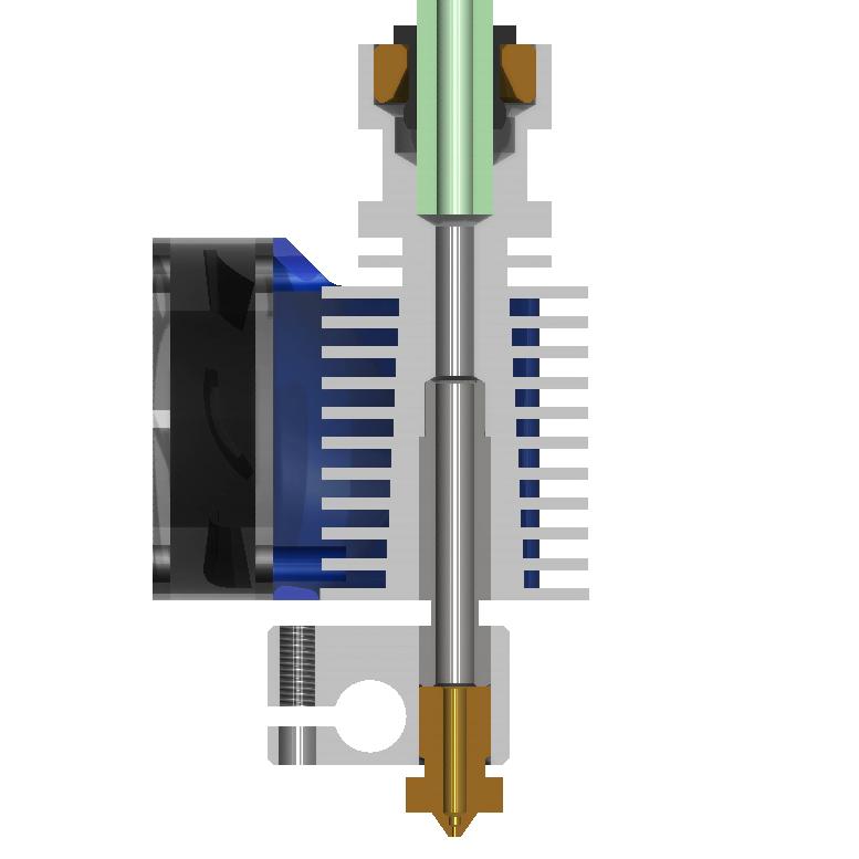 خرید و فروش پرینتر سه بعدی :فرگل سی ان سی Metal-part-E3D-V53 قسمت فلزی Hotend E3D V5