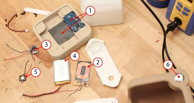 با پرینتر سه بعدی چراغ رومیزی وایرلس بسازید
