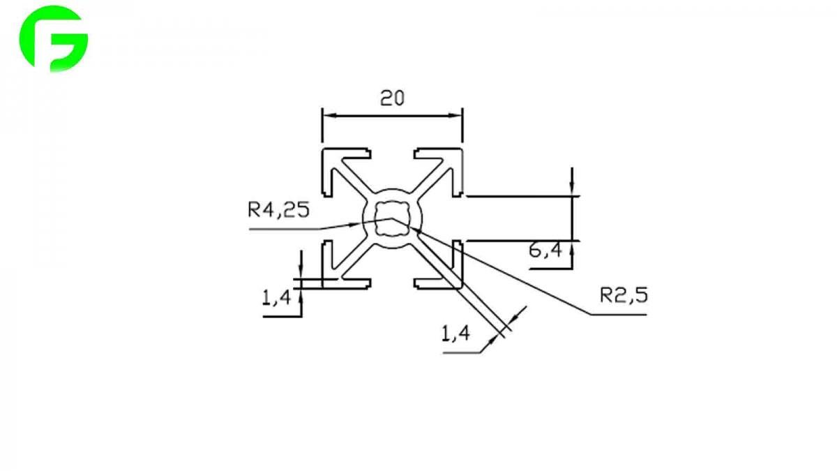 خرید و فروش پرینتر سه بعدی :فرگل سی ان سی پروفیل-مهندسی-20-در-20 پروفیل مهندسی 20 در 20