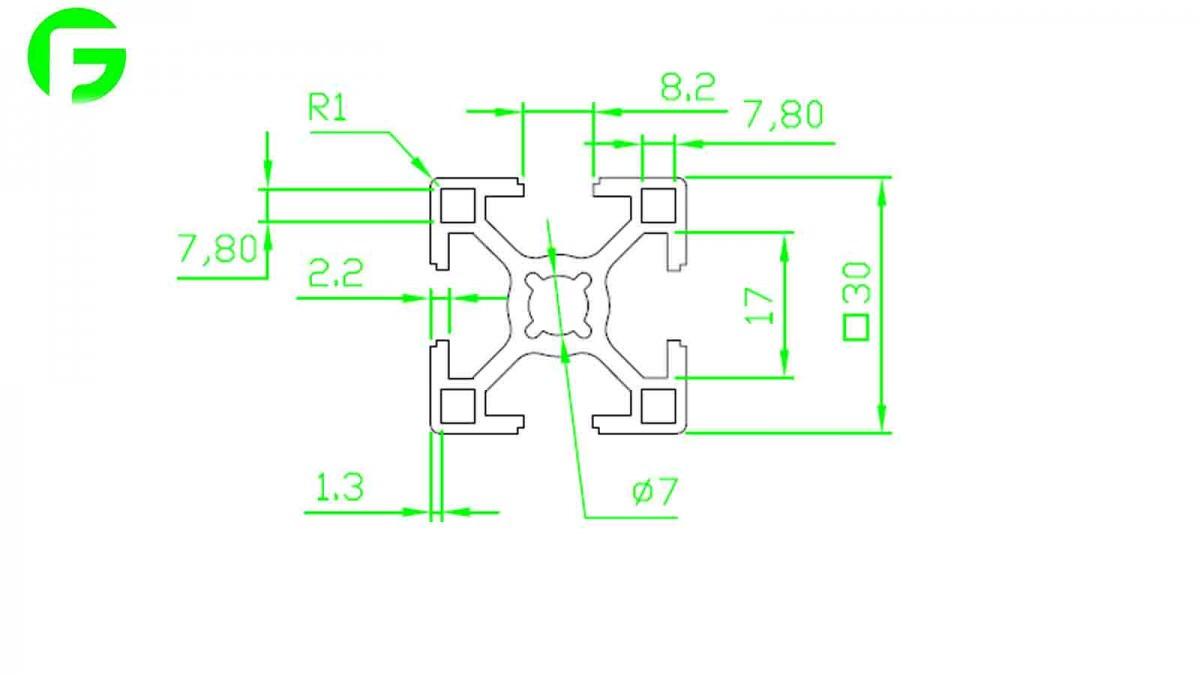 خرید و فروش پرینتر سه بعدی :فرگل سی ان سی پروفیل-مهندسی-30-در-30 پروفیل مهندسی 30 در 30